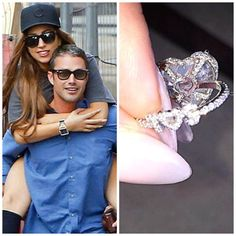 """The back of Lady Gaga's engagement ring from fiance Taylor contains a secret diamond message custom designed in the band that says """"T Heart S"""" (the """"S"""" represents Lady Gaga's birth name Stefani)."""