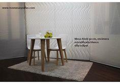 mesa fija redonda blanca en 70, 75, 80, 85, 90, 95, 100 , 110, 120 cm de diametro, barata, elegante y de alta calidad, pequeña cm