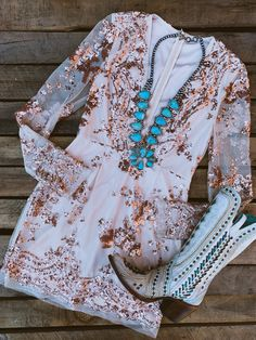 With southern inspired clothing as well as our very own Southern Fried Chics Collection. Western Dress With Boots, Dresses With Cowboy Boots, Cowgirl Outfits, Western Wear, Western Outfits, Western Style, Country Chic Dresses, Country Style Outfits, Casual Dresses