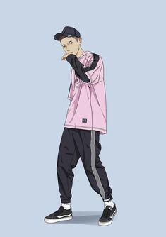 Fashion Vector, Fashion Art, Character Poses, Character Art, Boy Illustration, Hypebeast Wallpaper, Hip Hop Art, Boy Art, Cartoon Wallpaper