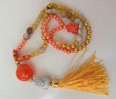 DIY COLLANA CON NAPPA ORANGE & GOLD – TASSEL STYLE | GESSETTI PROFUMATI - SPIGNATTO FACILE e altri hobbies by AVA | Bloglovin'