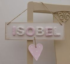 Personalised Dotty Heart Name Sign