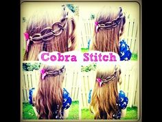 HOW TO DO THE COBRA STITCH BRAID HAIR TUTORIAL - BACKTOSCHOOLHAIR - YouTube
