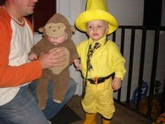 brother and sister halloween costumes - Curious George & Man in yellow hat Brother Halloween Costumes, Unique Halloween Costumes, Easy Costumes, Family Costumes, Halloween 2016, Holidays Halloween, Halloween Kids, Costume Ideas, Twin Costumes