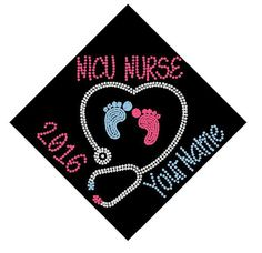 BSN RN LPN nurse graduation cap custom name by SarahLouBoutique
