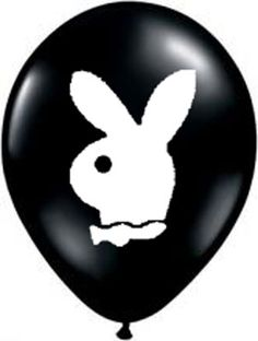 Playboy Bunny Balloons Black