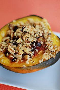 Acorn Squash Stuffed with Autumn Fruit Compote   Beantown Baker