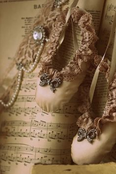 Ballet shoes and music