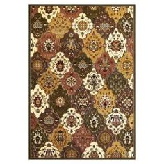 Kas Rugs Classic Panel Green/Plum 7 ft. 7 in. x 10 ft. 10 in. Area Rug  on  Daily Rug Deals