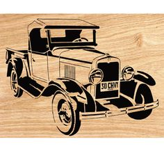 1930 Chevy Pickup Scrolled Wall Art Pattern