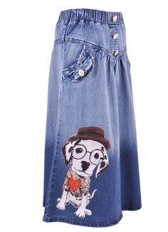 Puppy Love Girls Denim Skirt My daughter is getting this for her birthday!! Isn't it adorable??!
