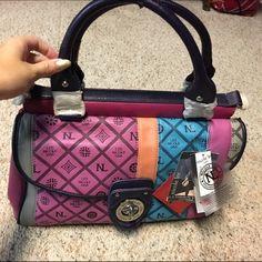 Nicole Lee new hobo purse! Brand new! Beautiful colors! Perfect pop! Nicole Lee Bags Hobos