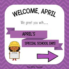 April Special School Days compilation with educational resources and ideas for young children North Face Logo, The North Face, Young Children, School Days, Welcome, Celebrations, Kindergarten, Teacher, Glitter