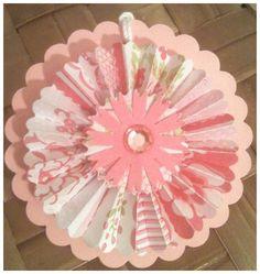 Paper Rosettes Raspberry Pink