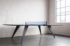 Ping Pong/Table Tennis Conference Table Dimensions (Shown) : H Ping Pong Table Tennis, Best Mods, Conference Table, Minimalism, Hardwood, Dining Table, Contemporary, The Originals, Workplace