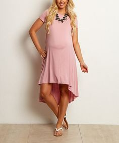 Look what I found on #zulily! PinkBlush Hi-Low Maternity Dress by PinkBlush Maternity #zulilyfinds