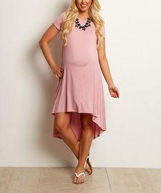 Look what I found on #zulily! PinkBlush Hi-Low Maternity Dress #zulilyfinds