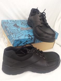 Clarks Boys School Shoes Leather Black Uk12.5F //eur31