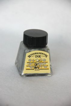 Silver Calligraphy Ink from Windsor and Newton on Etsy, $3.92