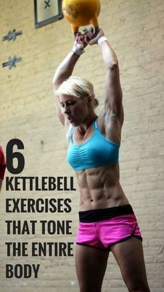 Only 6 kettlebell exercises for a full body workout   #fitness #workout #exercise losing weight, weight loss tips