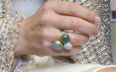 Crown Princess Mary Semi-Precious Stone rings by Marianne Dulong.