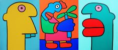 It's Nice That : Art: Thierry Noir – the first man to paint the Berlin Wall – opens first ever solo show in London