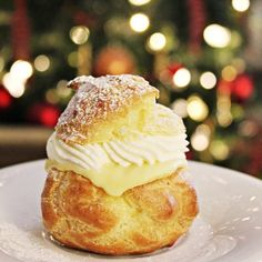 Pierre Herme's cream puffs. Creamy perfection on a plate.