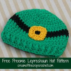 St. Patrick's day is less than a month away! Make this Preemie Leprechaun hat for a baby in the NICU this year! Make sure to share your finished projects on our Facebook Page! Also make sure to come back tomorrow for another pattern!