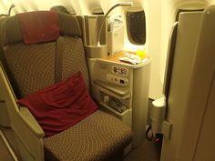 Garuda Indonesia Business Class Experience Boeing 777-300ER Bali - Jakarta