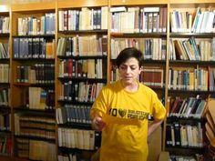 Mª Jesús, participante de Lass uns Sprechen apoya a las bibliotecas públicas.2013 Mens Tops, T Shirt, Public Libraries, Advertising, Lets Go, Supreme T Shirt, Tee Shirt, Tee