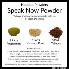 Hoodoo Speak Now Powder Hoodoo Spells, Magick Spells, Jar Spells, Magick Book, Gypsy Spells, Witchcraft Books, Candle Spells, Wiccan Spell Book, Wiccan Witch