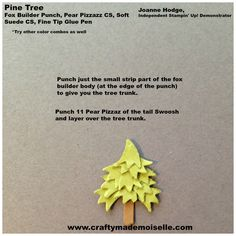 "My last daily punch art share before I take a break to enjoy the Christmas holiday is this little pine tree. The finished tree is only a little over 1″ tall. I made an adorable mantel scene with this tree and some other cute holiday items to adorn it (all Fox Builder Punch Art items), … Continue reading ""A Fox Punch Merry Christmas"""