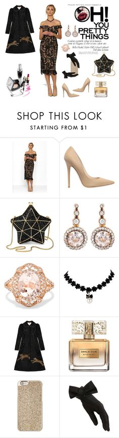 """""""Glamour in all age!"""" by chictochicfashionista ❤ liked on Polyvore featuring Jimmy Choo, Aspinal of London, Selim Mouzannar, Effy Jewelry, Gucci, Givenchy, Michael Kors and Black"""