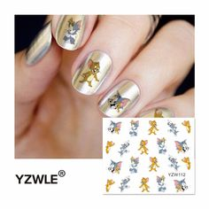 [Visit to Buy] YZWLE 2016 Hot Sale Water Transfer Nails Art Sticker Manicure Decor Tool Cover Nail Wrap Decal (YZW112) #Advertisement