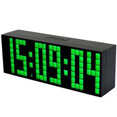 Chihai 3'' Digital Big Led Display Snooze Alarm Clock with Countdown Function. Black plastic shell, mirror surface, practical design, won Red Dot Design