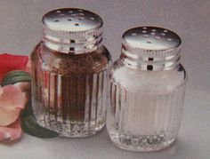 """Mini Salt and Pepper Shaker Set - 1.5 Inch by SCI Scandicrafts. $4.50. Glass and Stainless Steel. 1.5"""" Tall. Screw on Tops. Set of 2. These mini salt and pepper shakers are 1.5 inches high, and are made of glass with screw on stainless steel tops."""