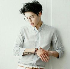Sang Gil Go Korean Model Ulzzang boy glasses tattooed Korean Fashion
