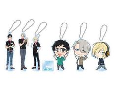 Yuri!!! On Ice HMV Collaboration Goods Acrylic Keychain Stands - Yuri Normal: HMV Music Stores in Japan will be having a huge Yuri!!! On Ice collaboration, featuring a ton of limited edition merchandise sold exclusively at HMV music stores in Japan.