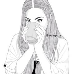 Parece a Marzia do pewds Tumblr Girl Drawing, Tumblr Sketches, Art Tumblr, Tumblr Drawings, Girly Drawings, Tumblr Girls, Tumblr Outline, Outline Art, Outline Drawings