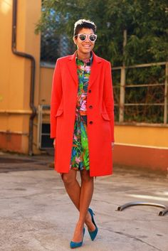 If one must wear a coat..make it BRIGHT!