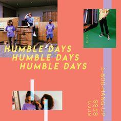 """Humble Days Clothing // """"1-800-HANG-UP"""" SS18 Promo"""