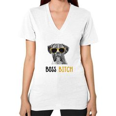 Boxer V-Neck (on woman) Shirt