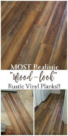 Farmhouse Vinyl Plank Flooring - Most Realistic Wood Look - artsychicksrule.com