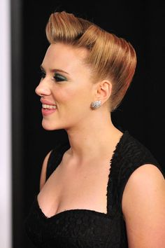 El peinado pin up de Scarlett Johansson - TELVA