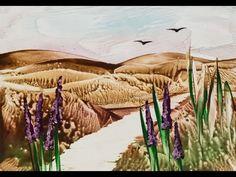 Пейзаж восковыми красками (энкаустика). Урок 69 - YouTube