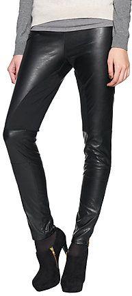 stylishe Fake-Leder Hose mit Einsätzen für Frauen (unifarben) - TOM TAILOR