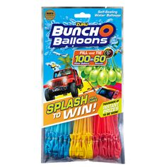 Bunch O Balloons Splash to Win Promotion with 100 Rapid-Filling Self-Sealing Water Balloons Pack) by Zuru, Assorted Water Balloon Filler, Water Balloon Fight, Buncho Balloons, Bulk Candy, Water Toys, Household Items, Birthday Cake, Birthday Stuff, Vestidos