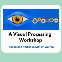 Strong visual processing skills are vital for learners of all ages. This workshop, conducted by Dr. Erica Warren, reviews the definition of visual processing, offers an explanation of how it functions in the brain, reviews the eleven different types of visual processing, introduces materials that can be used to exercise this skill, and discusses how one can assess or evaluate visual processing at large. #visualprocessing #teachertraining #teacherworkshop Teacher Workshops, Teacher Resources, Reading Specialist, Emotional Regulation, Executive Functioning, Activity Board, Teaching Language Arts, Dysgraphia, Dyslexia