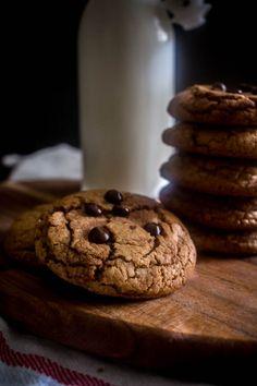 Μπισκότα με ταχίνι και κομματάκια σοκολάτας - Myblissfood.grMyblissfood.gr