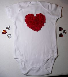 valentines onesie. DIY gifts & sewing for baby girls.